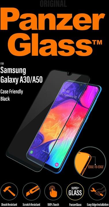 PanzerGlass Edge-to-Edge pro Samsung Galaxy A30/A50/A30s/A50s, černá