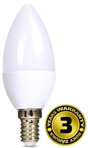 Solight žárovka, svíčka, LED, 6W, E14, 6000K, 510lm, bílá