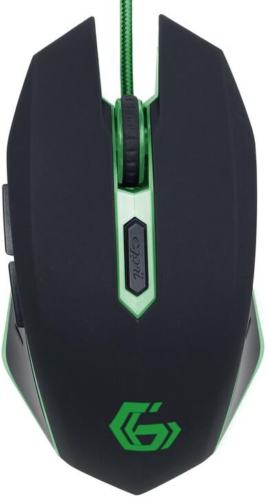 Gembird MUSG-001, černá/zelená