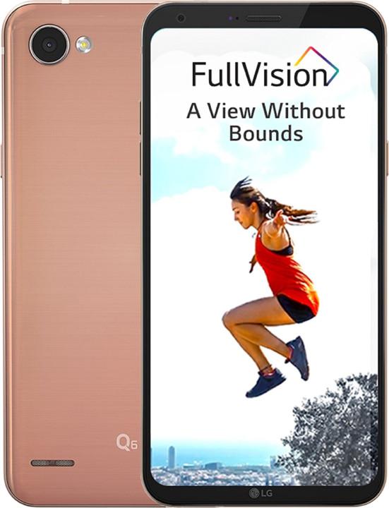 LG Q6 - 32GB, zlatá