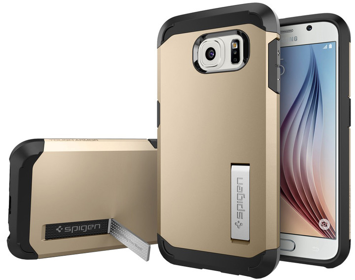 Spigen Tough Armor pouzdro pro Galaxy S6, zlatá