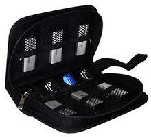MediaRange obal na Flashdisky a SD karty, černá BOX98