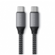 Satechi USB-C to USB-C Short Cable 25cm, šedá