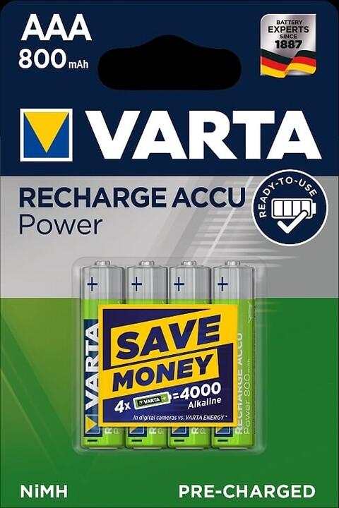 VARTA nabíjecí baterie Power AAA 800 mAh, 4ks