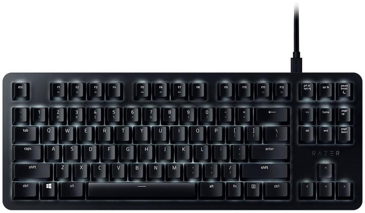 Razer BlackWidow Lite, Razer Orange, černá, US