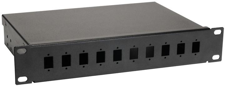 "Solarix optická vana FO-10-1-10SCS-B, 10"", 1U, 10 portů, včetně čela, simplex"