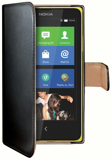CELLY Wally pouzdro pro Nokia Lumia 630/635, černá