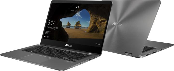 ASUS ZenBook Flip 14 UX461UA, šedá