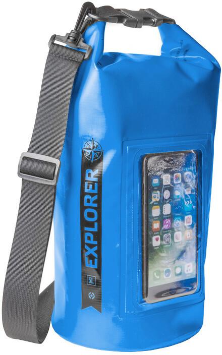 """CELLY voděodolný vak Explorer 5L s kapsou na telefon do 6,2"""", modrý"""