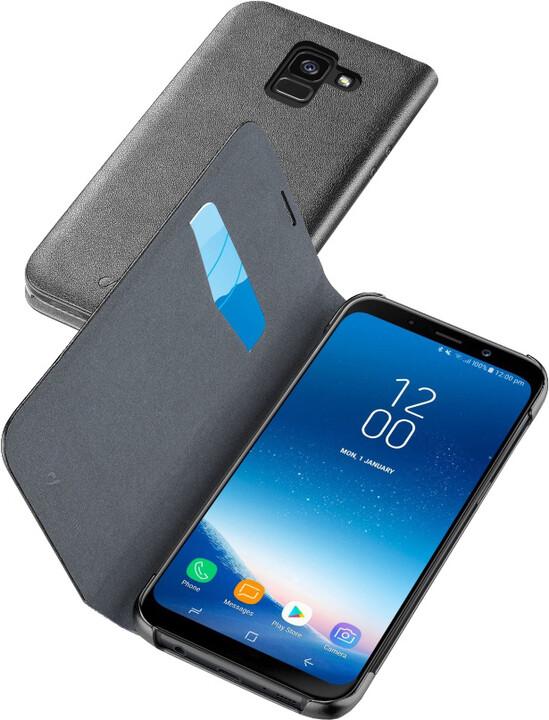 CellularLine Book Essential Pouzdro typu kniha pro Samsung Galaxy A8 (2018), černé