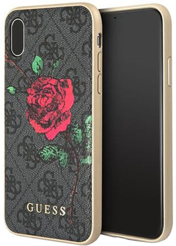 Guess 4G Flower Desire Zadní Kryt Grey pro iPhone X