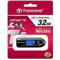 Transcend JetFlash 790 32GB, černo-modrá
