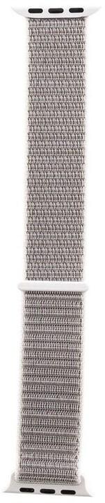 Tactical 547 látkový řemínek pro Apple Watch 1/2/3/4/5/6/SE, 42/44mm, stříbrná