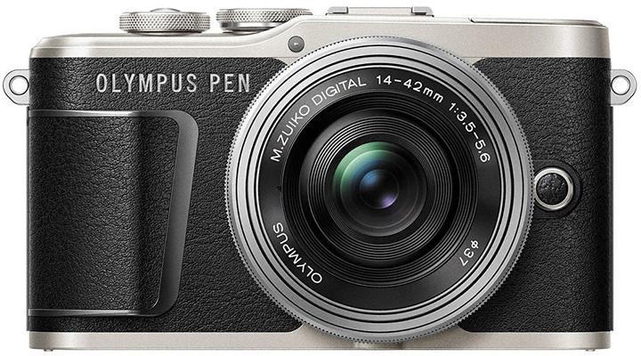 Olympus E-PL9 tělo + 14-42mm, černá/stříbrná