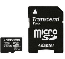 Transcend Micro SDHC 32GB Class 10 UHS-I + adaptér TS32GUSDHC10U1