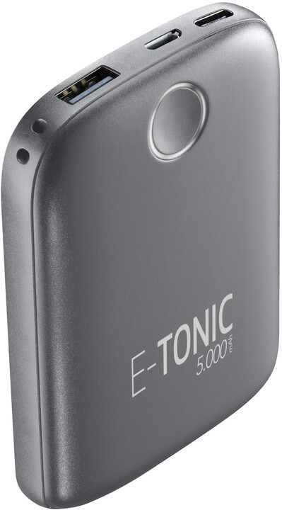 CellilarLine powerbanka E-Tonic, 5000mAh, USB, 10W, černá