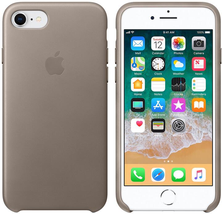 Apple kožený kryt na iPhone 8/7, kouřová