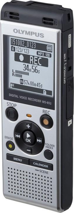 c54439e0692 Olympus WS-852, stříbrná + mono mikrofon ME-52 V415121SE020 | CZC.cz