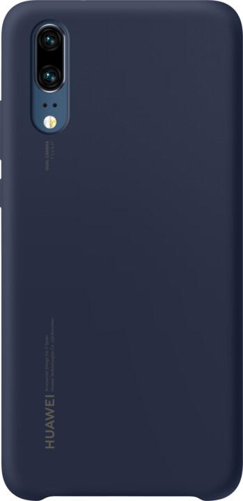 Huawei Silicon Case Pouzdro pro P20, tmavě modrá