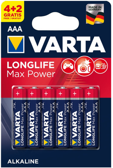 VARTA baterie Longlife Max Power AAA, 4+2ks