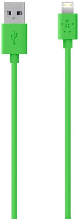 Belkin Synchronizační Lightning kabel 1.2m, zelená