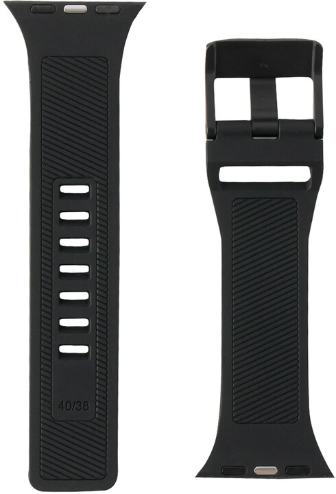 UAG silikonový řemínek Scout Strap pro Apple Watch, 42/44mm, černá