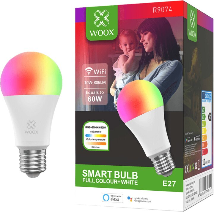 WOOX Smart WiFi E27 LED Bulb RGB+CCT R9074