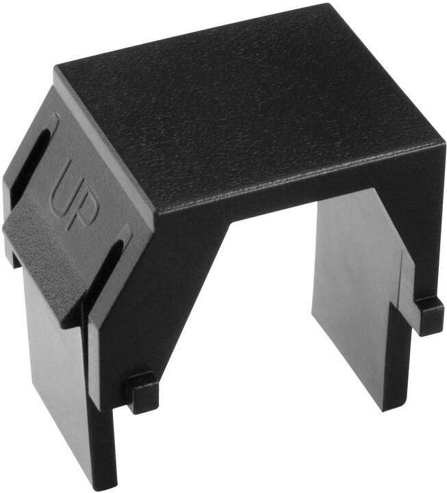 Solarix Keystone záslepka do modulárních patch panelů nebo zásuvek černá SXKJ-0-BK, 1Ks