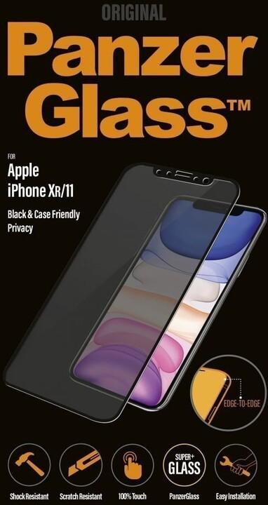 PanzerGlass Edge-to-Edge Privacy pro Apple iPhone Xr/11, černé