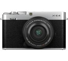 Fujifilm X-E4 + XF27mm, stříbrná - 16673938