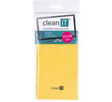 Clean IT čisticí utěrka z mikrovlákna, velká žlutá - CL-702