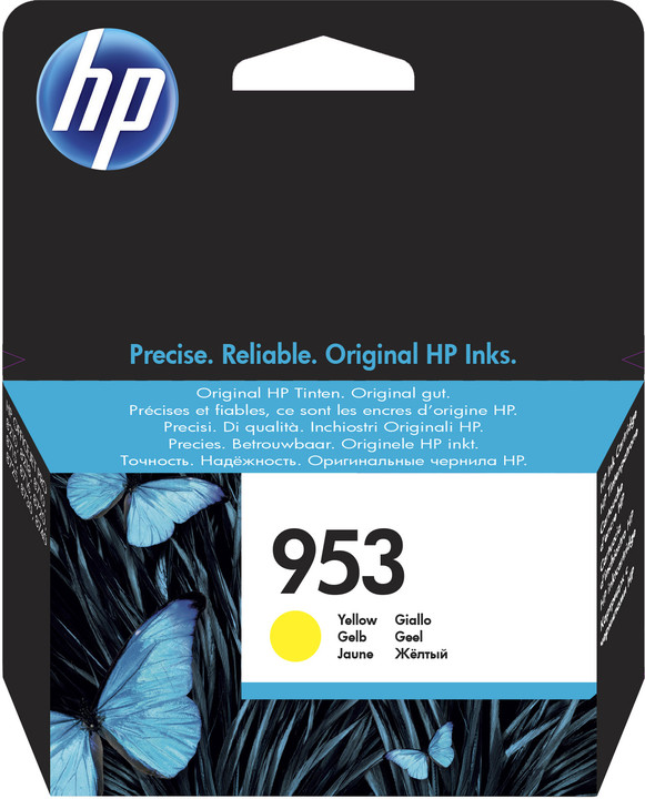 HP F6U14AE, náplň č.953, žlutá