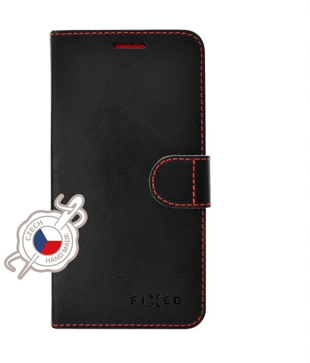 FIXED flipové pouzdro Fit pro Apple iPhone 12/12 Pro, černá