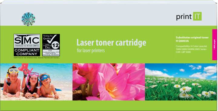 PRINT IT alternativní HP Q6003A CLJ2600 Magenta toner