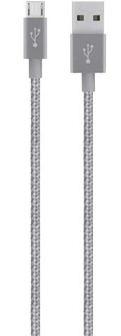 Belkin MIXIT USB 2.0 kabel micro-B, 1,2 m, šedá