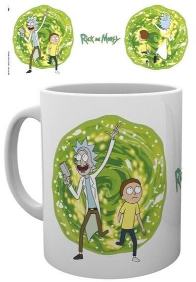 Hrnek Rick and Morty - Portal, bílý