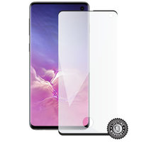 ScreenShield ochrana displeje Tempered Glass pro Samsung Galaxy S10 (G973), case friendly, černá