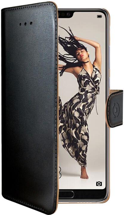 CELLY Wally pouzdro typu kniha pro Huawei P20 Pro, černé