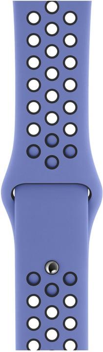 Apple řemínek pro Watch Series 5, 44mm sportovní Nike - S/M a M/L, noblesně modrá/černá