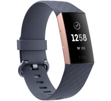 Fitbit Charge 3, Blue Grey / Rose-Gold Aluminium