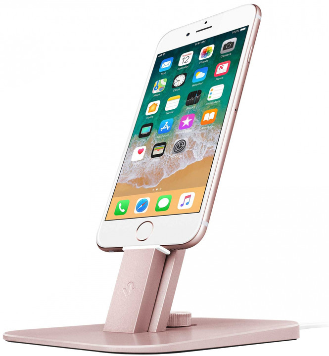 TwelveSouth HiRise Deluxe stojan pro iPhone, iPad mini, iPod touch - Rose gold
