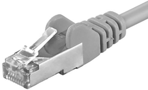 Premiumcord Patch kabel CAT6a, 15m, šedá