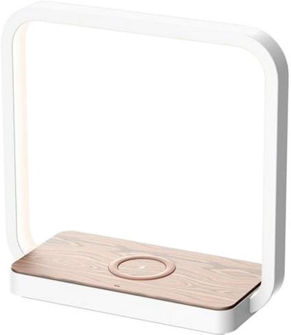 IMMAX LED stolní lampička Owl s bezdrátovým nabíjením QI 4W, bílá