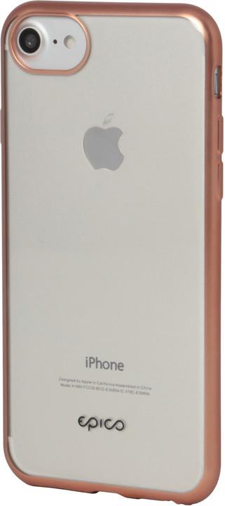EPICO Pružný plastový kryt pro iPhone 6/7/8 MATT BRIGHT- rose gold