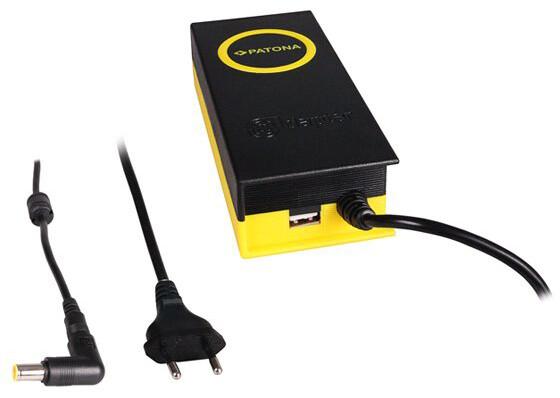 Patona napájecí adaptér k ntb/ 20V/4,7A 90W/ konektor 7,9x5,5mm+PIN/ + výstup USB