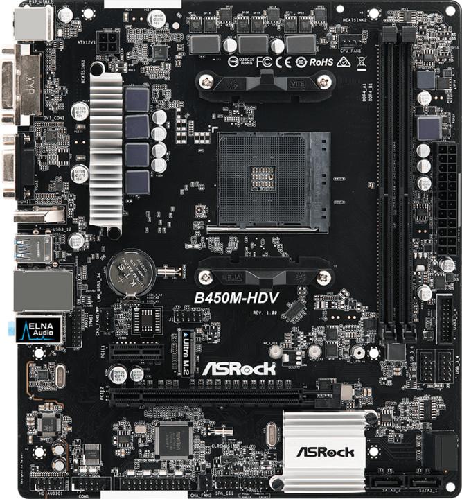 ASRock B450M-HDV - AMD B450