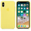 Apple silikonový kryt na iPhone X, citrónově žlutý