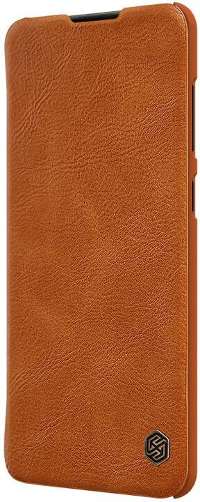 Nillkin pouzdro Qin Book Pouzdro pro Samsung Galaxy A21s, hnědá