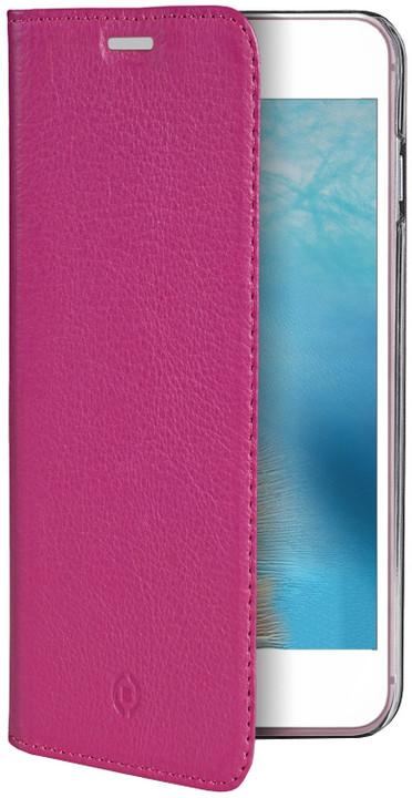 CELLY Air Pelle Pouzdro typu kniha pro Apple iPhone 7, pravá kůže, růžové