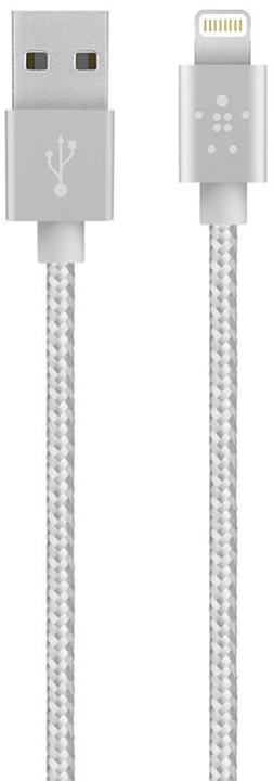 Belkin Synchronizační Premium Lightning kabel 1.2m, šedá
